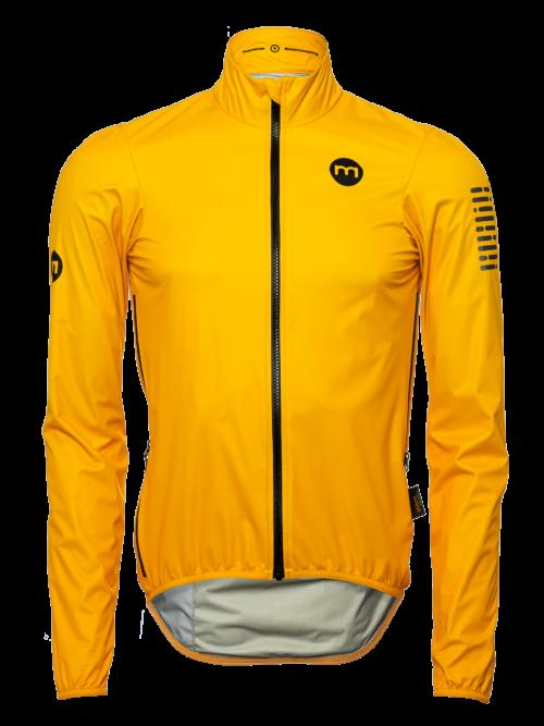 kollane meeste tuule ja vihmakindel rattajakk